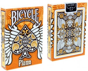 Bicycle Pluma Designer-Spielkarten in Orange