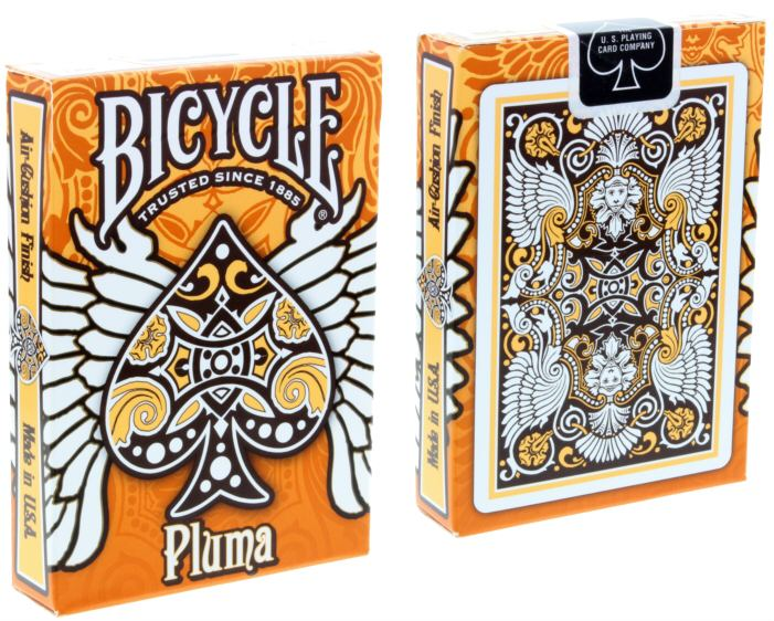 Bicycle Pluma Designer-Spielkarten in Orange