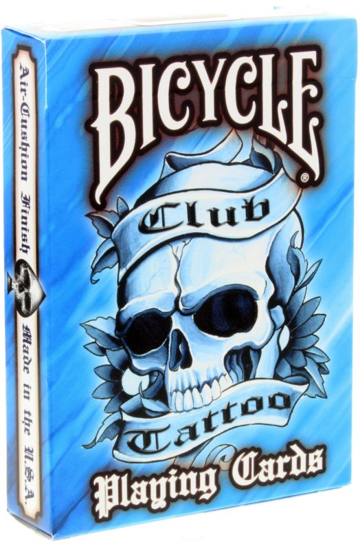 Bicycle Club Tattoo Deck in Blau