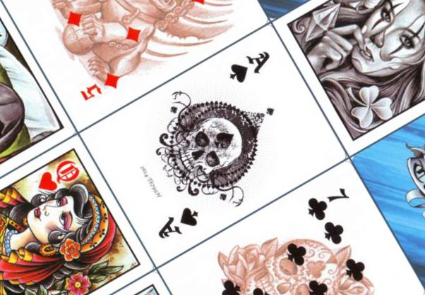 Bicycle Club Tattoo Deck in Blau